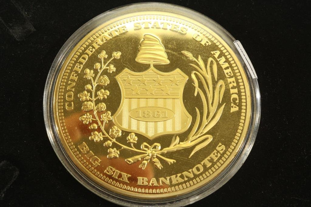 """2 3/4"""" GOLD COLORED PROOF TOKEN FEATURING THE - 2"""
