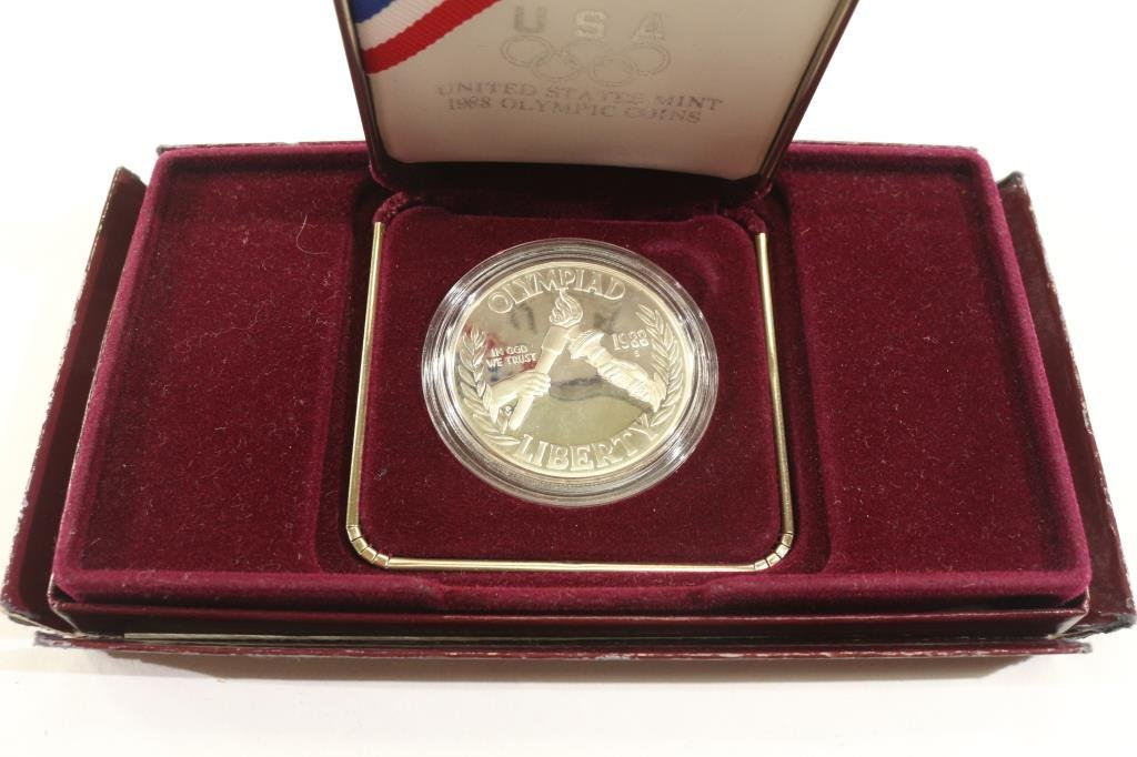 1988-S OLYMPIC PROOF SILVER DOLLAR