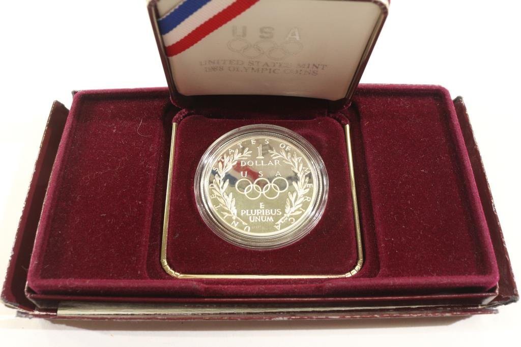 1988-S OLYMPIC PROOF SILVER DOLLAR - 2