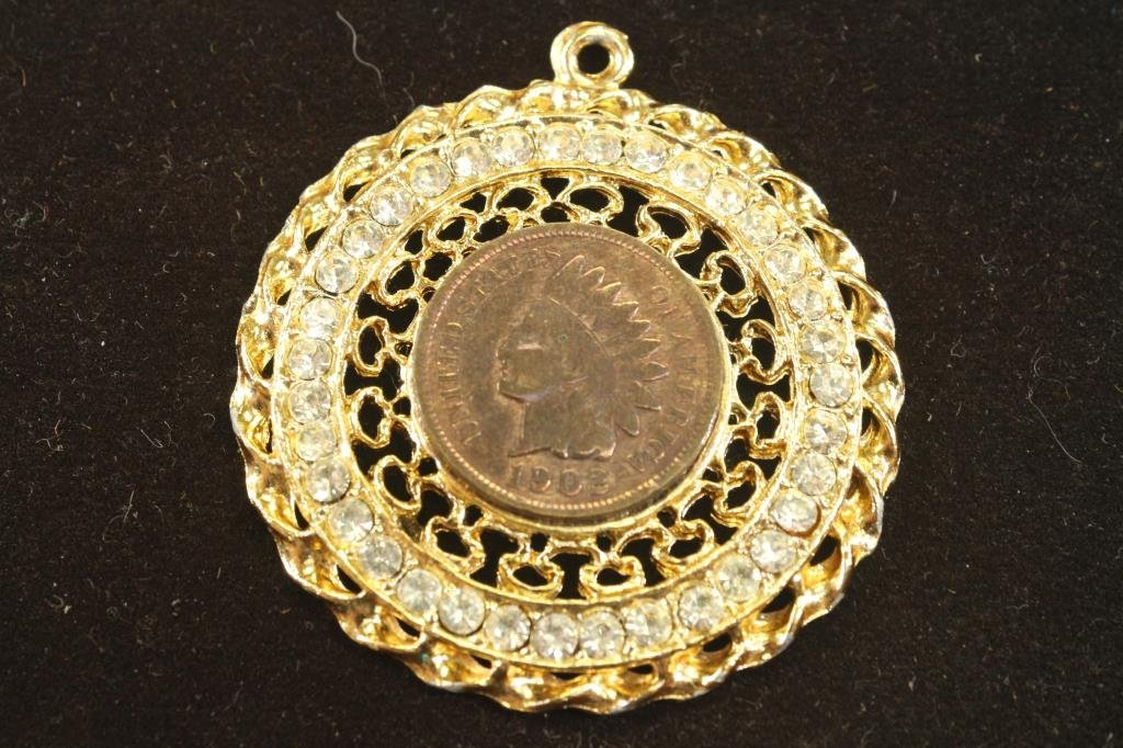 1902 INDIAN HEAD CENT IN PENDANT