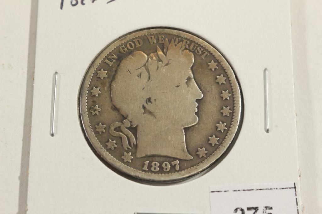 1897-S BARBER HALF DOLLAR KEY DATE