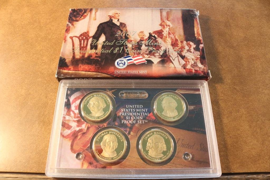 2007-S PRESIDENTIAL DOLLAR PROOF SET WITH BOX