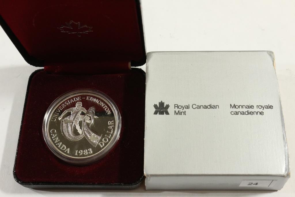 1983 CANADA EDMONTON SILVER DOLLAR PROOF