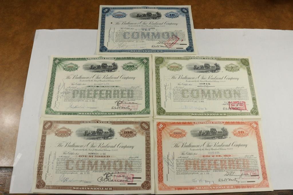 5-1951-1960 BALTIMORE & OHIO RAILROAD COMPANY