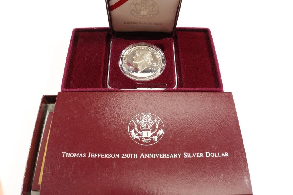 1993-S JEFFERSON COMMEMORATIVE SILVER DOLLAR PF