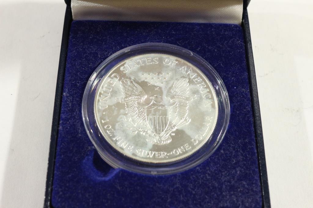 1999 COLORIZED AMERICAN SILVER EAGLE IN BOX - 2