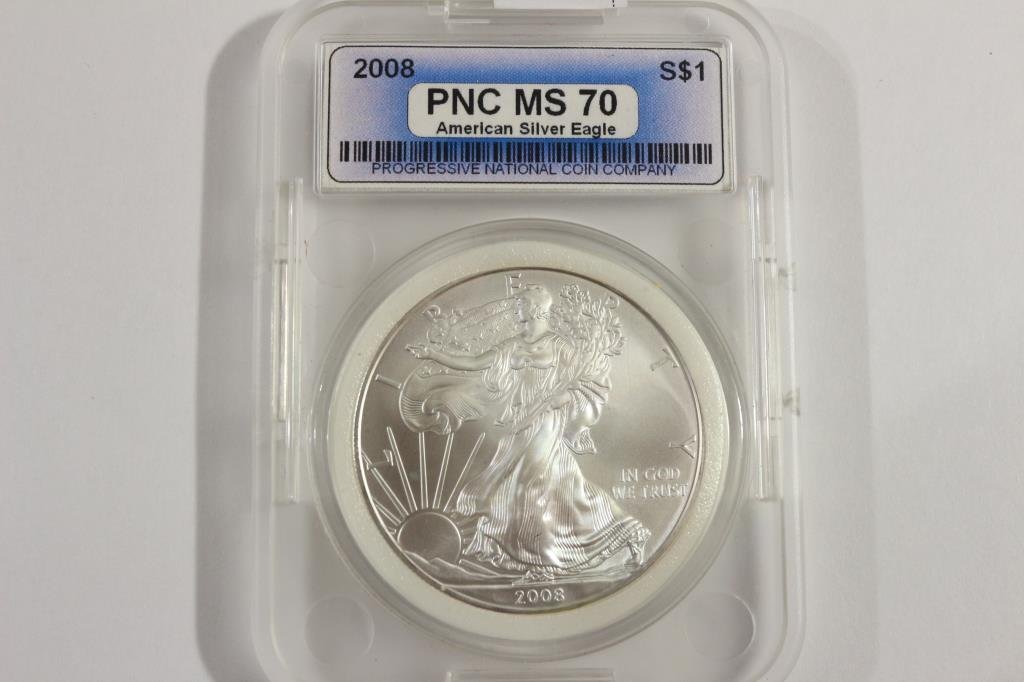 2008 AMERICAN SILVER EAGLE MS PERFECT
