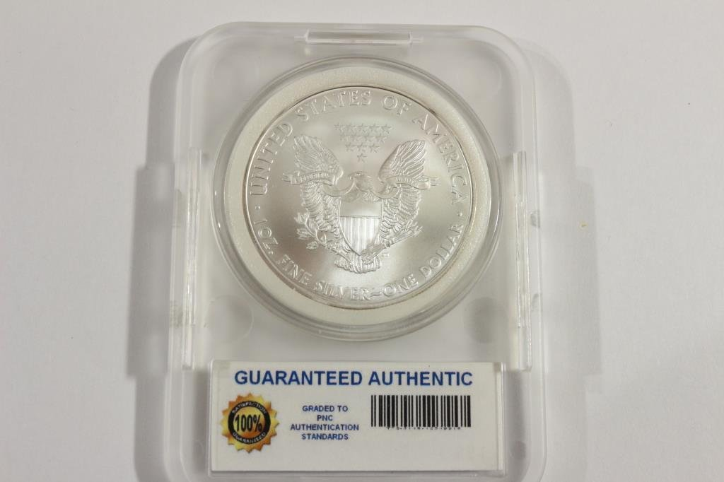 2008 AMERICAN SILVER EAGLE MS PERFECT - 2
