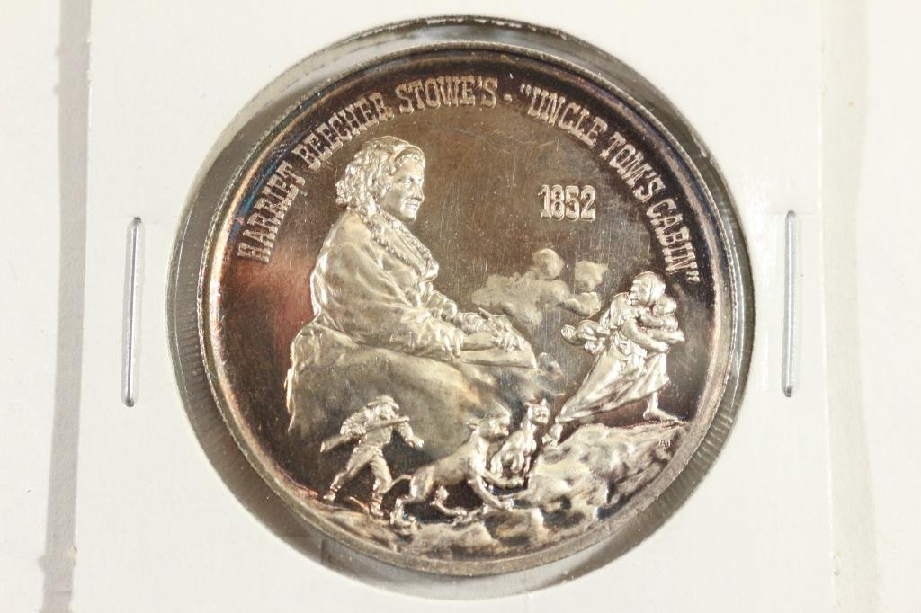 25.6 GRAM .999 SILVER PROOF ROUND UNCLE TOMS CABIN