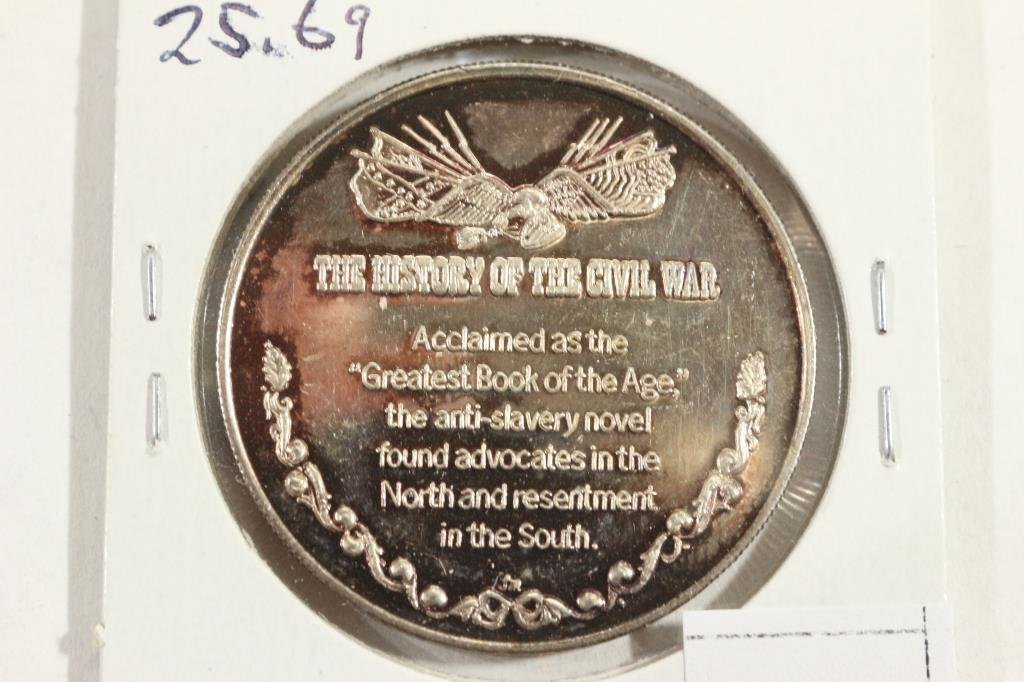25.6 GRAM .999 SILVER PROOF ROUND UNCLE TOMS CABIN - 2