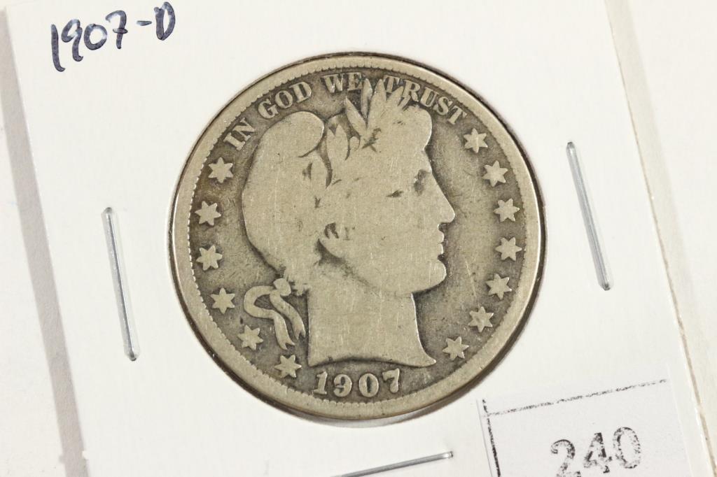 1907-D  BARBER HALF DOLLAR