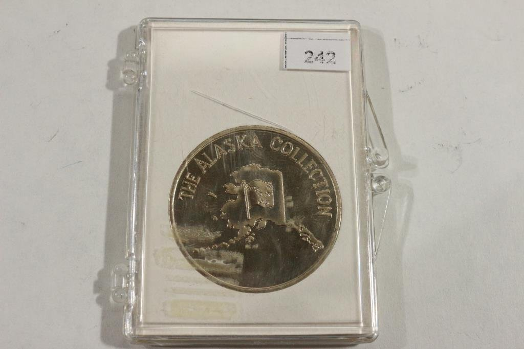 ALASKA GOLD RUSH CENTENNIAL TOKEN WITH REAL GOLD - 2