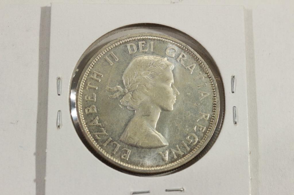 1962 CANADA SILVER DOLLAR UNC - 2