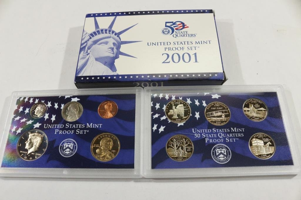 2001 US PROOF SET (WITH BOX)