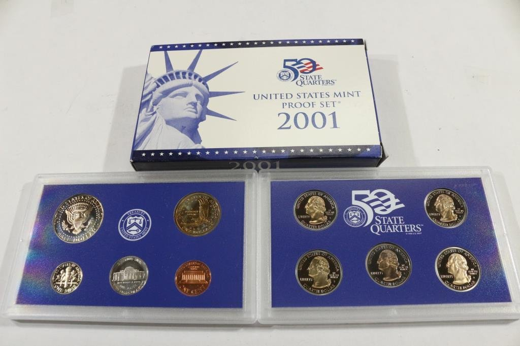 2001 US PROOF SET (WITH BOX) - 2