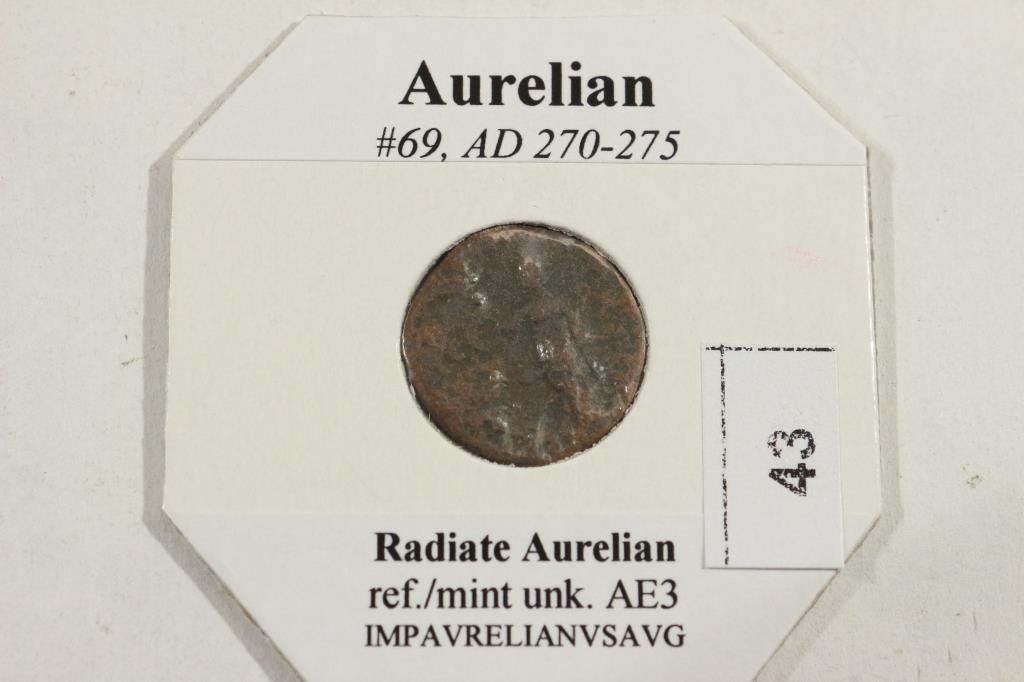 270-275 A.D. AURELIAN ANCIENT COIN - 2