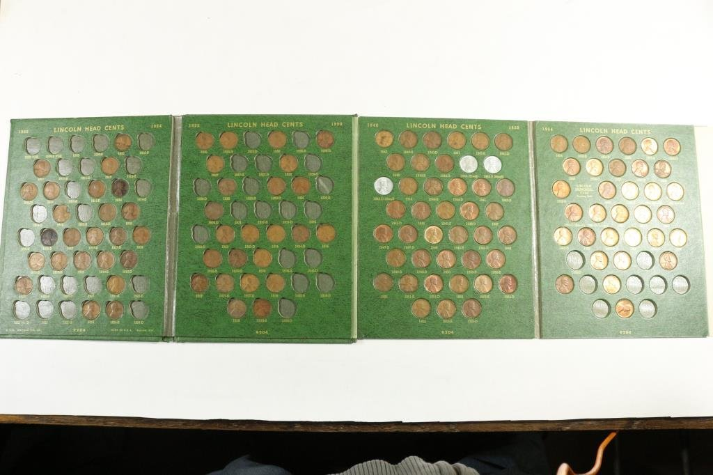 PARTIAL LINCOLN CENT ALBUM 1909-1970 IN WHITMAN