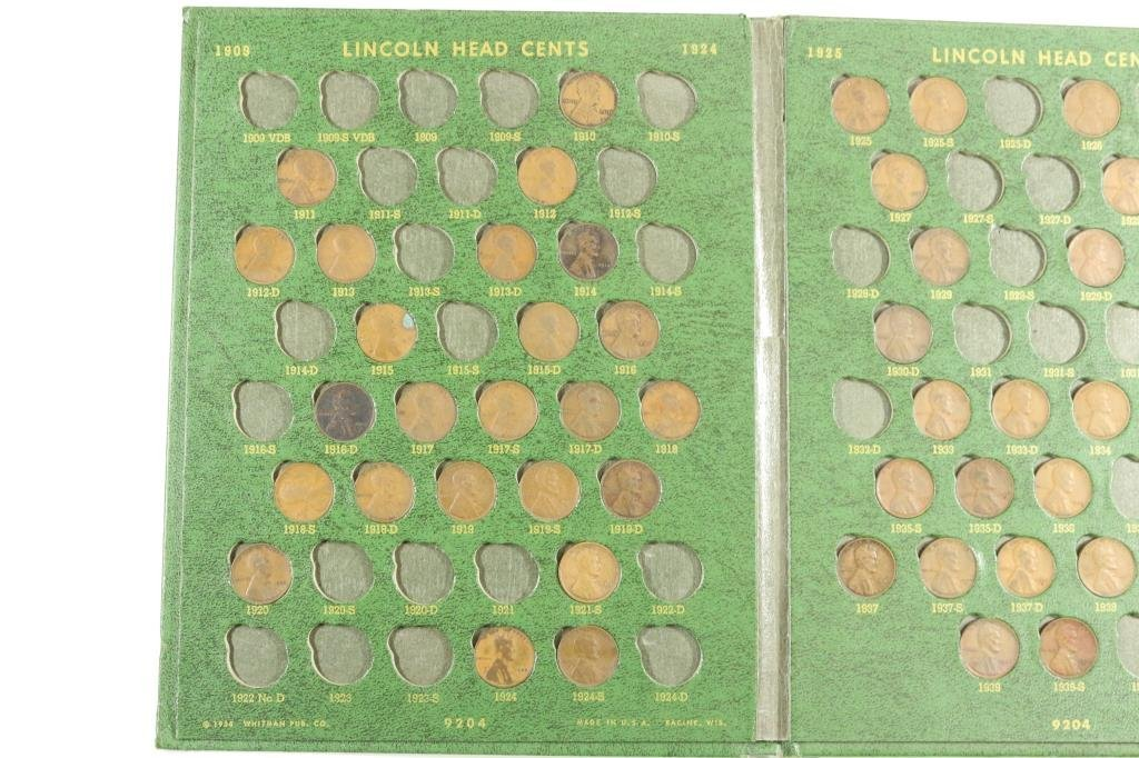 PARTIAL LINCOLN CENT ALBUM 1909-1970 IN WHITMAN - 2