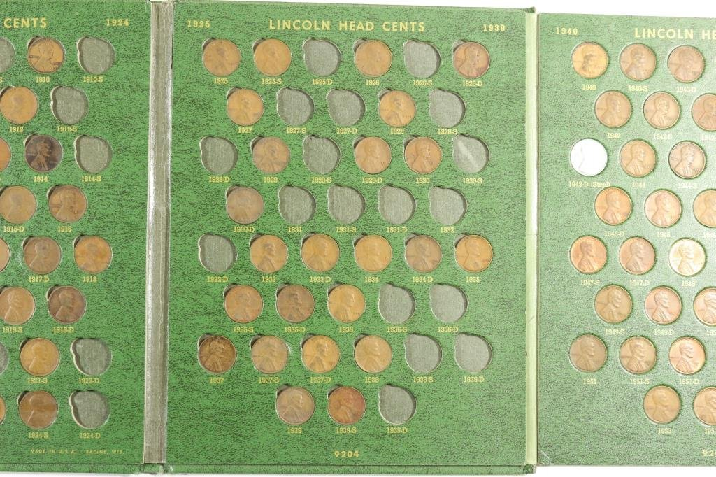 PARTIAL LINCOLN CENT ALBUM 1909-1970 IN WHITMAN - 3