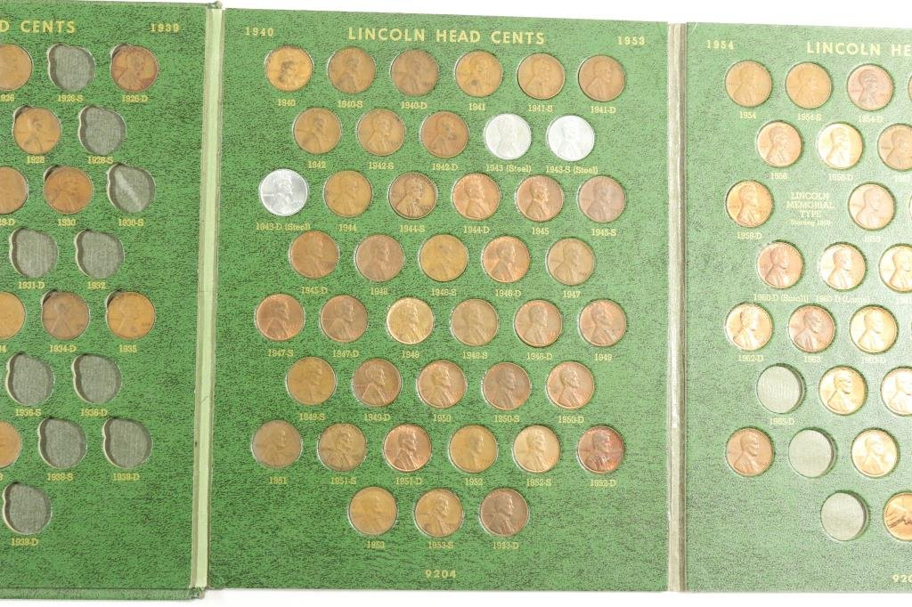 PARTIAL LINCOLN CENT ALBUM 1909-1970 IN WHITMAN - 4