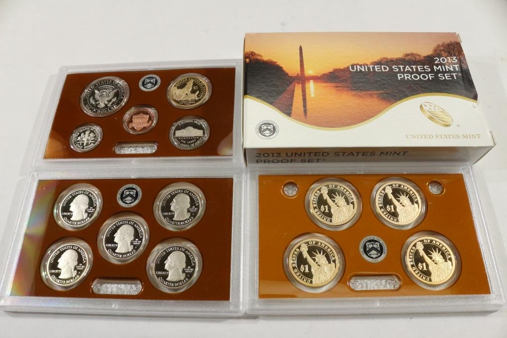 2013 US PROOF SET (WITH BOX) 14 PIECES - 2