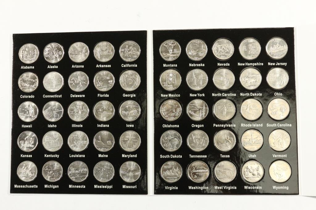 50 STATES QUARTER COLLECTION 50 COINS