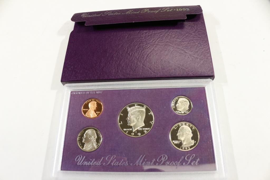 1992  US PROOF SET (WITH BOX)