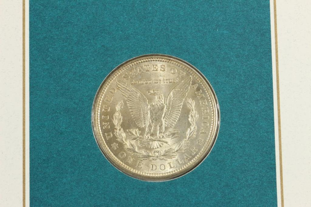 1921 MORGAN SILVER DOLLAR & STAMP SET UNC - 3