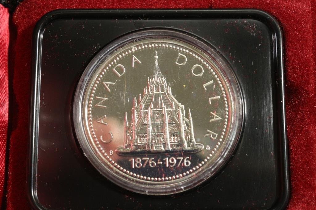 1976 CANADA PARLIAMENT SILVER DOLLAR PROOF - 2