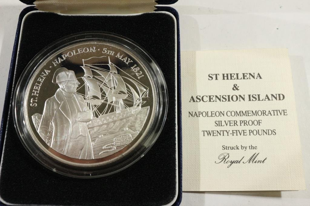1986 ST. HELENA & ASCENSION ISLAND SILVER PROOF