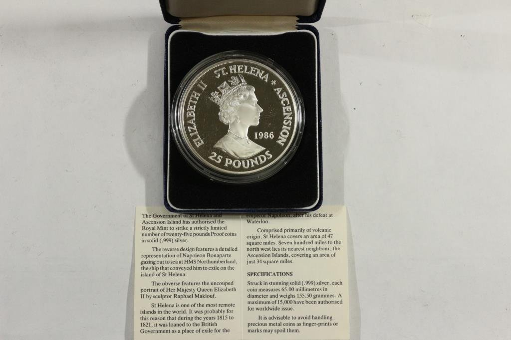 1986 ST. HELENA & ASCENSION ISLAND SILVER PROOF - 2