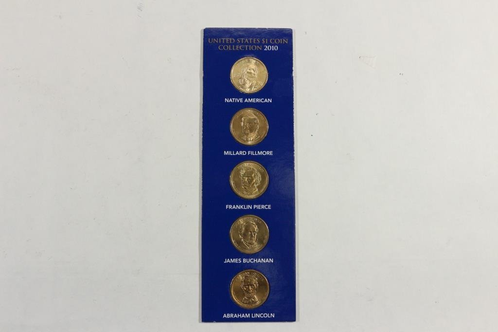 2010 US DOLLAR COIN COLLECTION ALL 4 PRESIDENTIAL