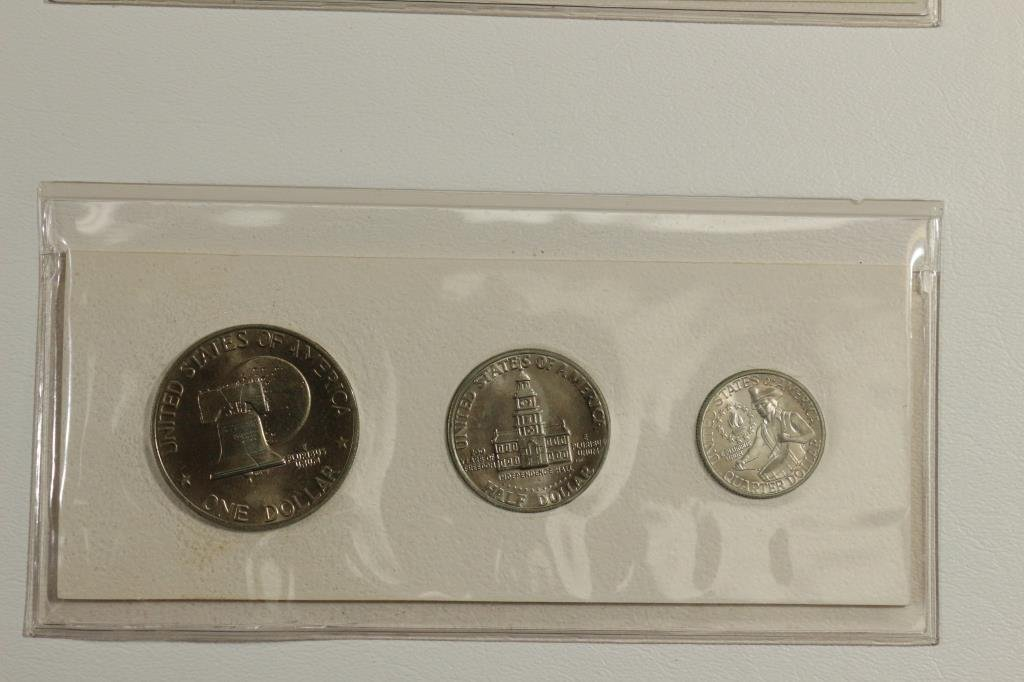 US BICENTENNIAL COIN CURRENCY & STAMP SET - 4