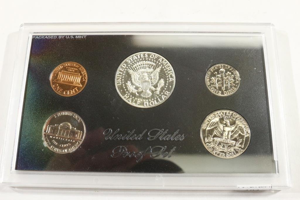 1968 US PROOF SET WITH NO BOX, 40% SILVER JFK HALF - 2
