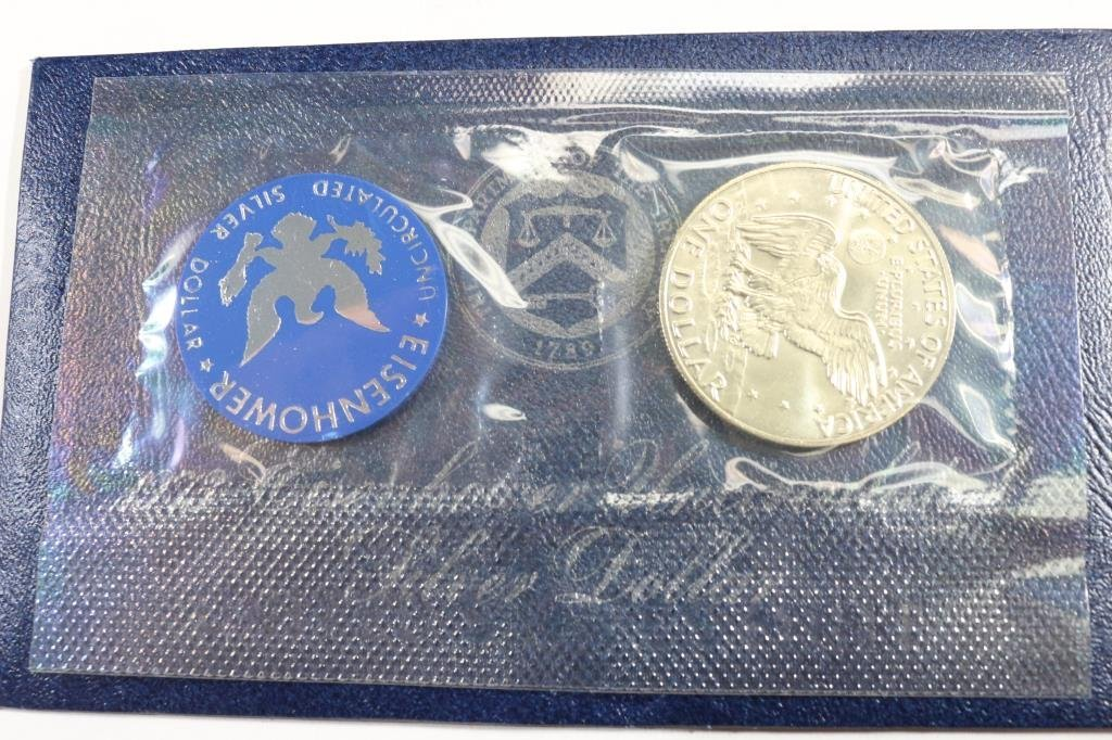 1973-S  IKE SILVER DOLLAR UNCIRCULATED (BLUE PACK) - 2