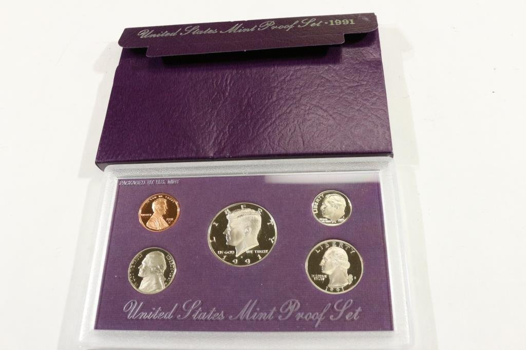 1991 US PROOF SET (WITH BOX)