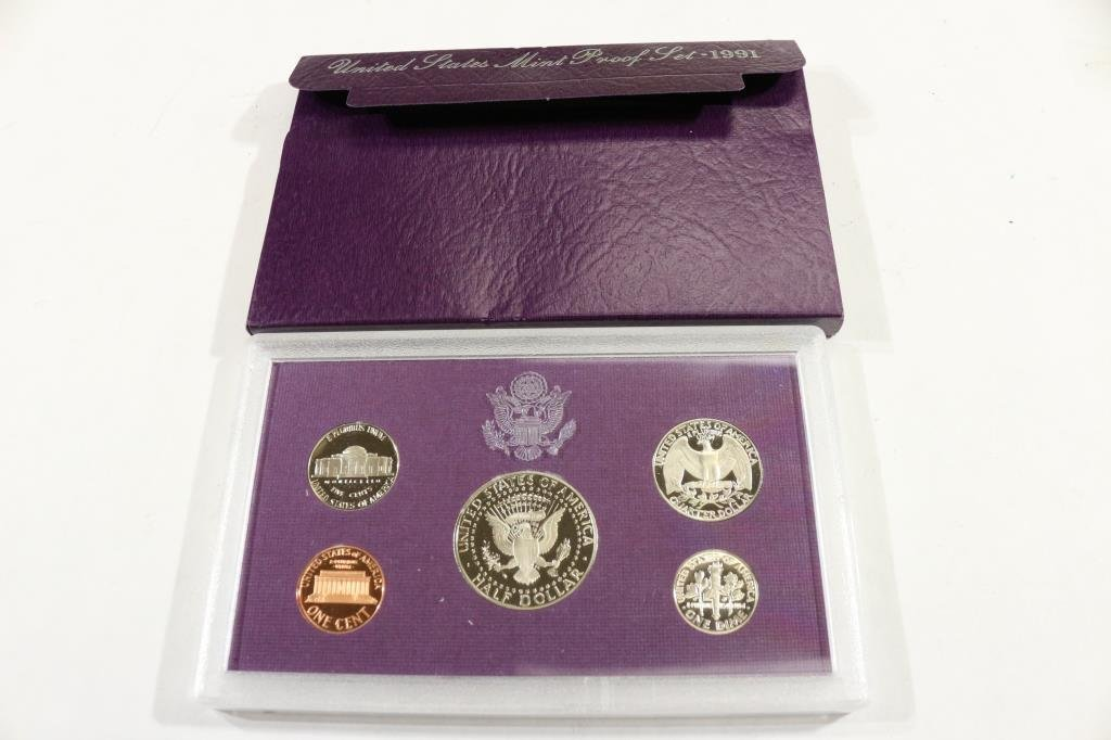 1991 US PROOF SET (WITH BOX) - 2