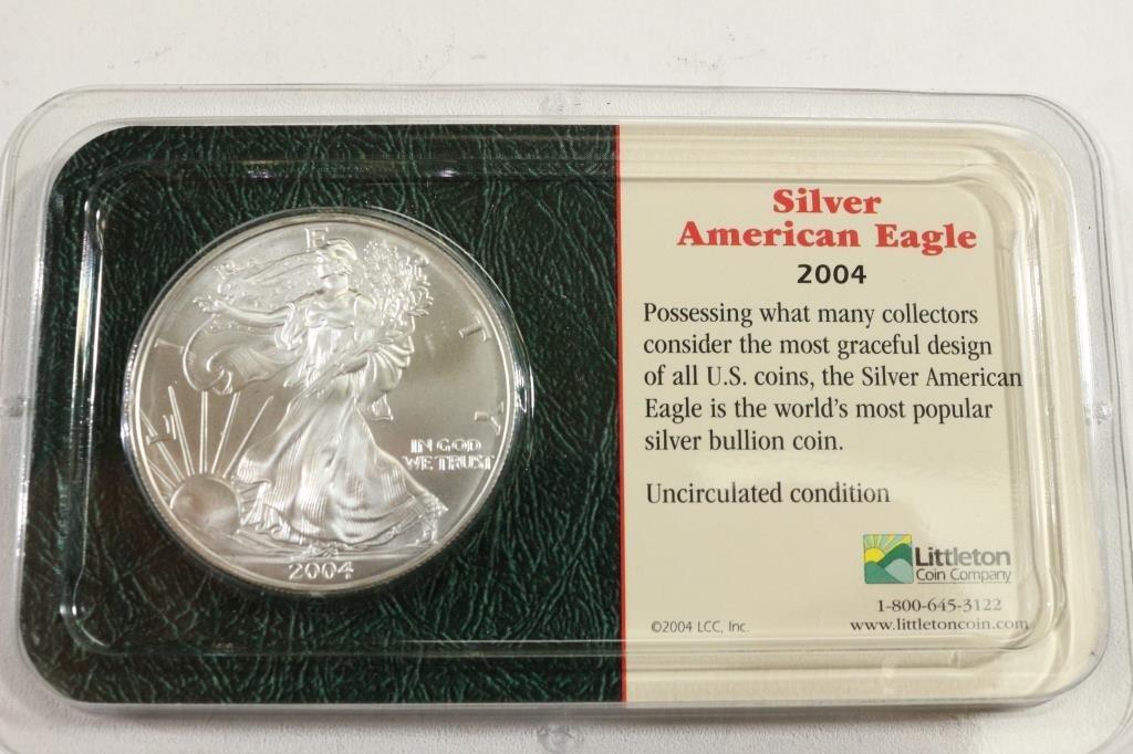 2004 AMERICAN SILVER EAGLE UNC