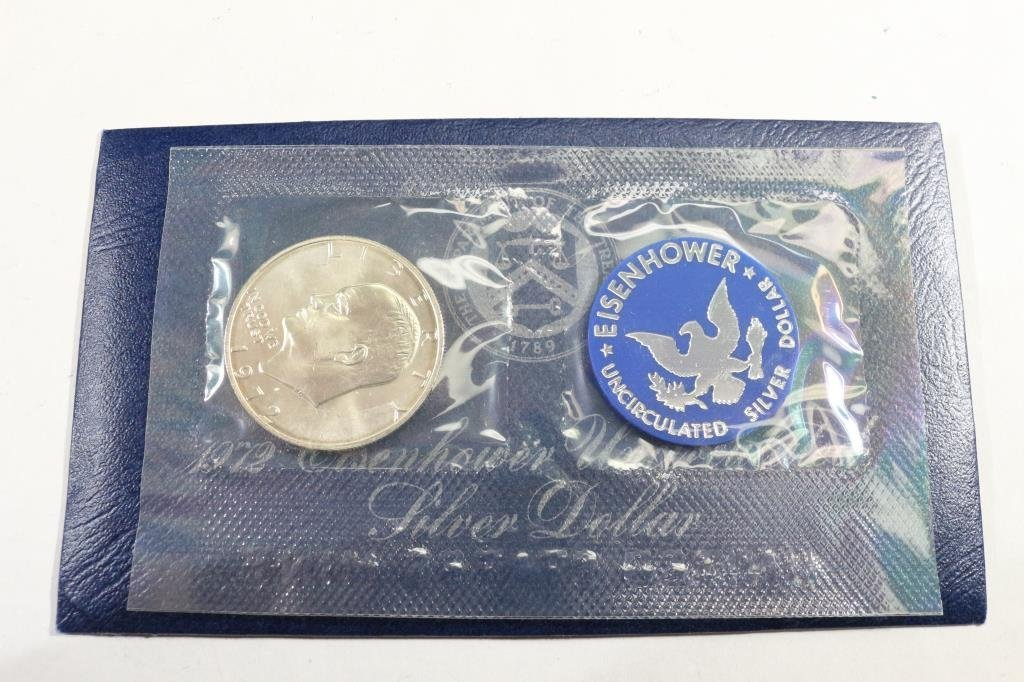 1972-S  IKE SILVER DOLLAR UNCIRCULATED (BLUE PACK)