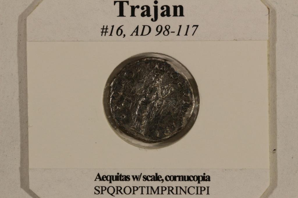 SILVER 98-117 A.D. TRAJAN ANCIENT COIN (FINE) - 3