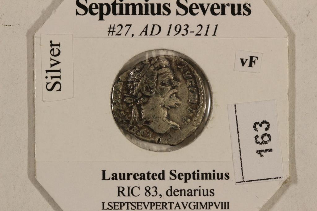 SILVER 193-211 A.D. SEPTIMIUS SEVERUS ANCIENT COIN - 3