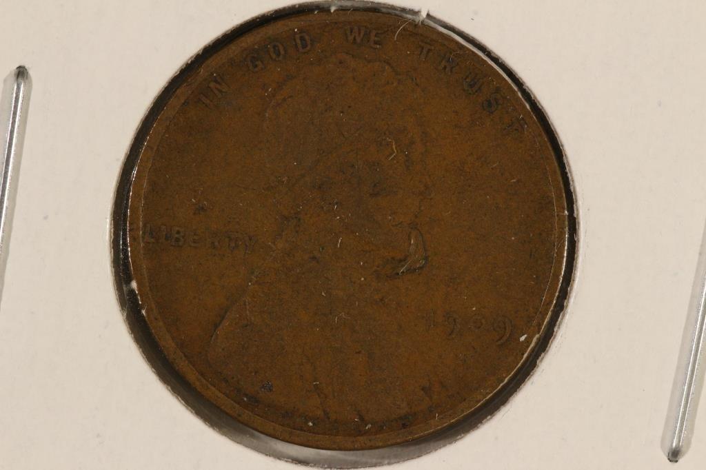 1909-VDB LINCOLN CENT (FINE)