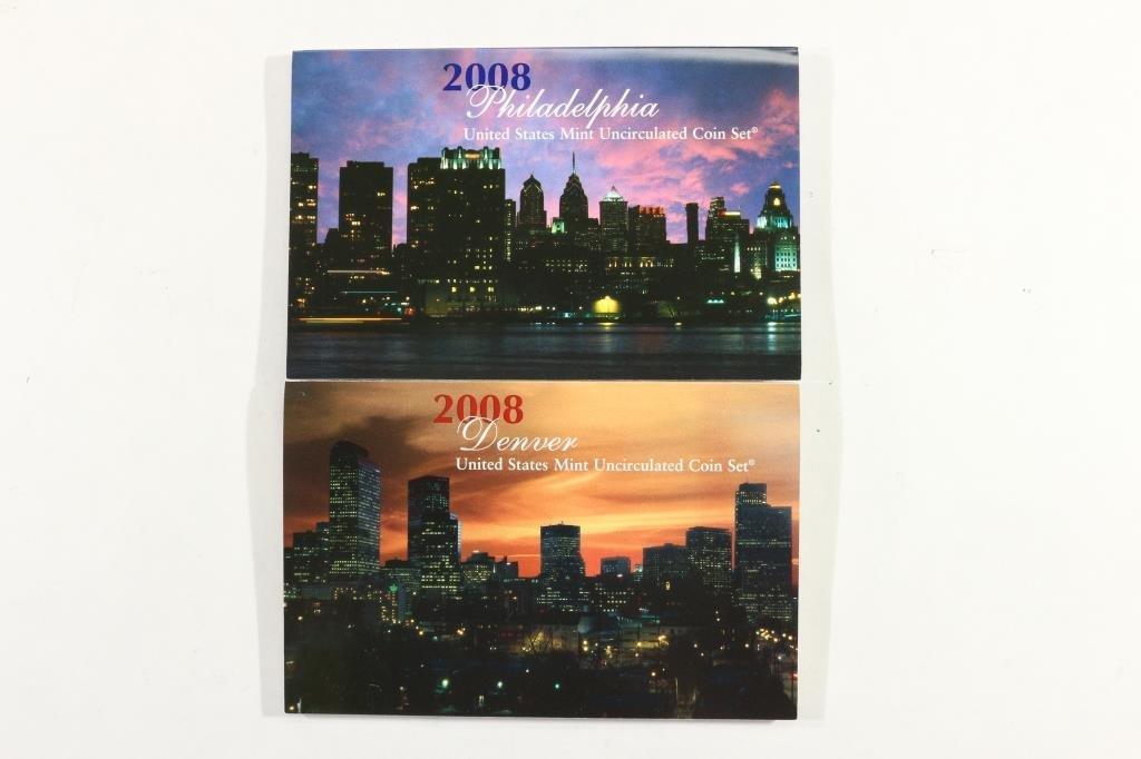 2008 US MINT SET (UNC) P/D (WITH ENVELOPE) - 2