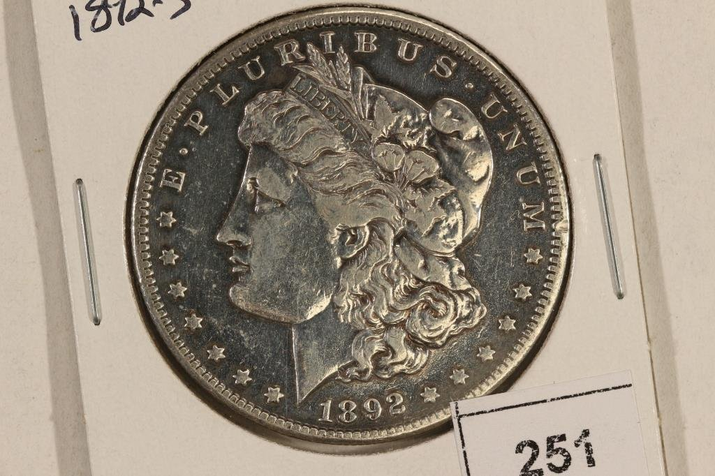 1892-S MORGAN SILVER DOLLAR BETTER DATE POLISHED