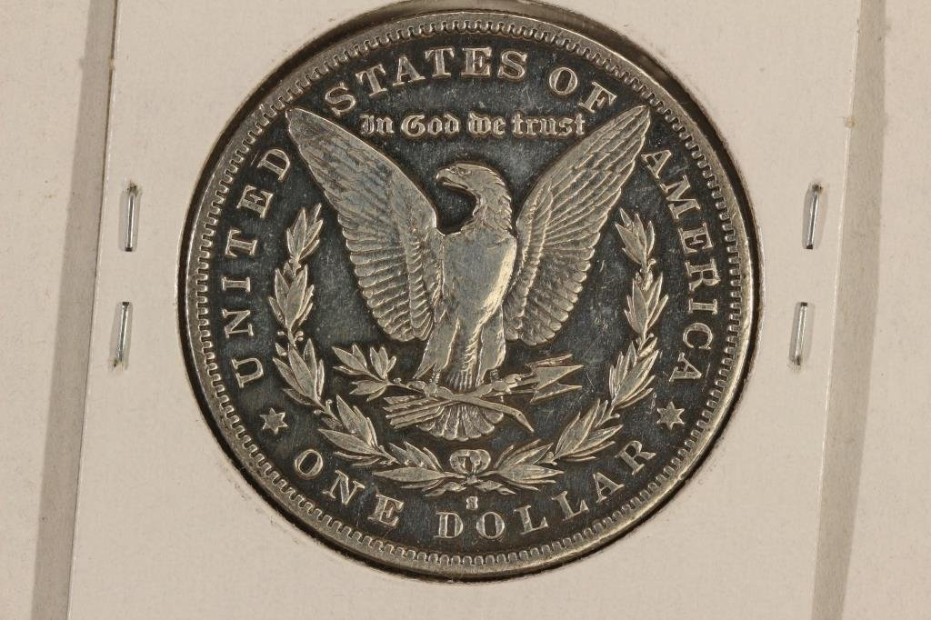 1892-S MORGAN SILVER DOLLAR BETTER DATE POLISHED - 2