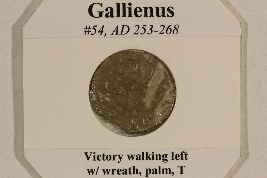 SILVER 253-268 A.D. GALLIENUS ANCIENT COIN - 3