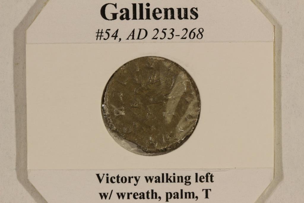 SILVER 253-268 A.D. GALLIENUS ANCIENT COIN - 3