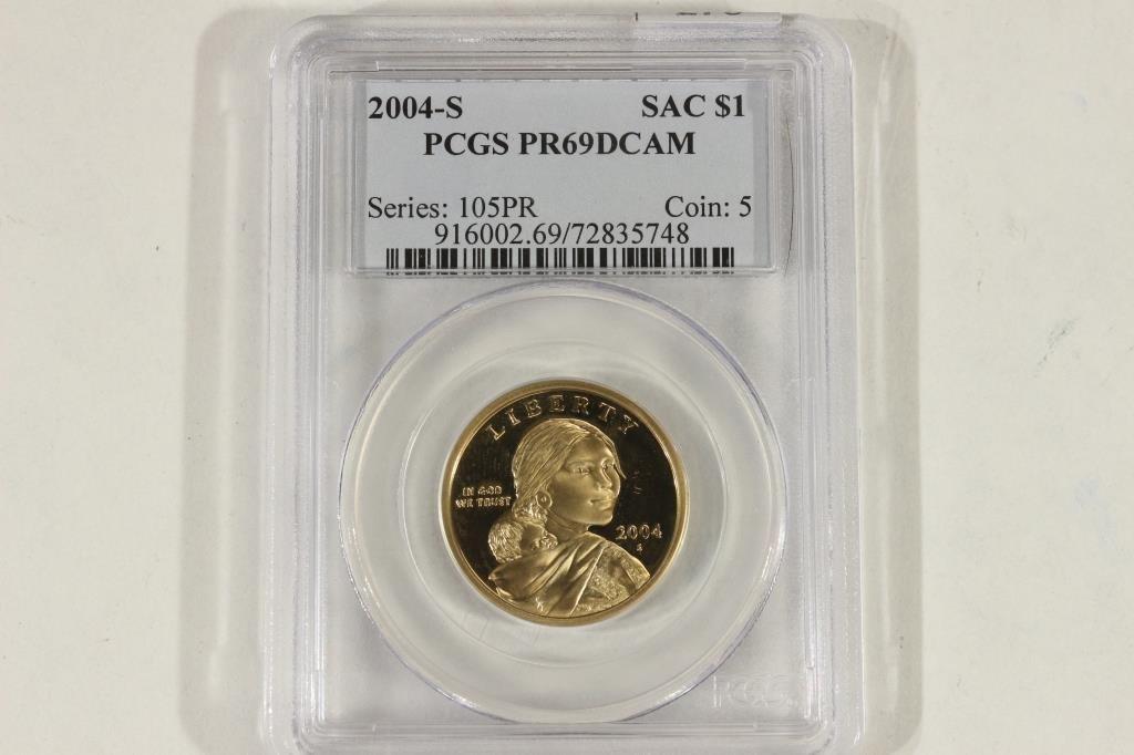2004-S SACAGAWEA DOLLAR PCGS PR69 DCAM