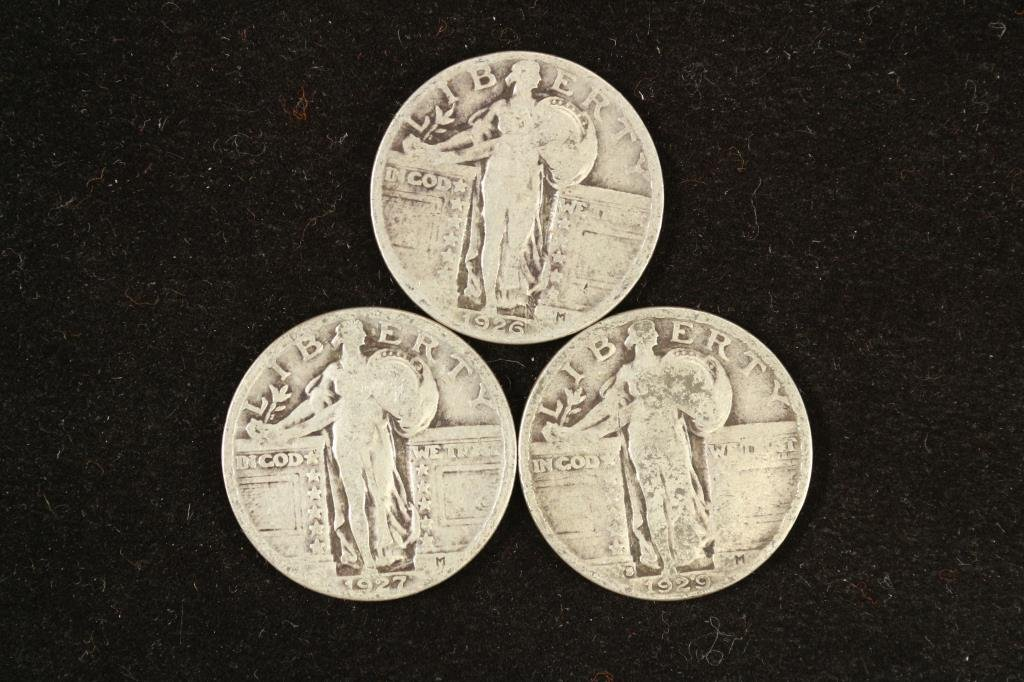 1926,27 & 29 STANDING LIBERTY QUARTERS