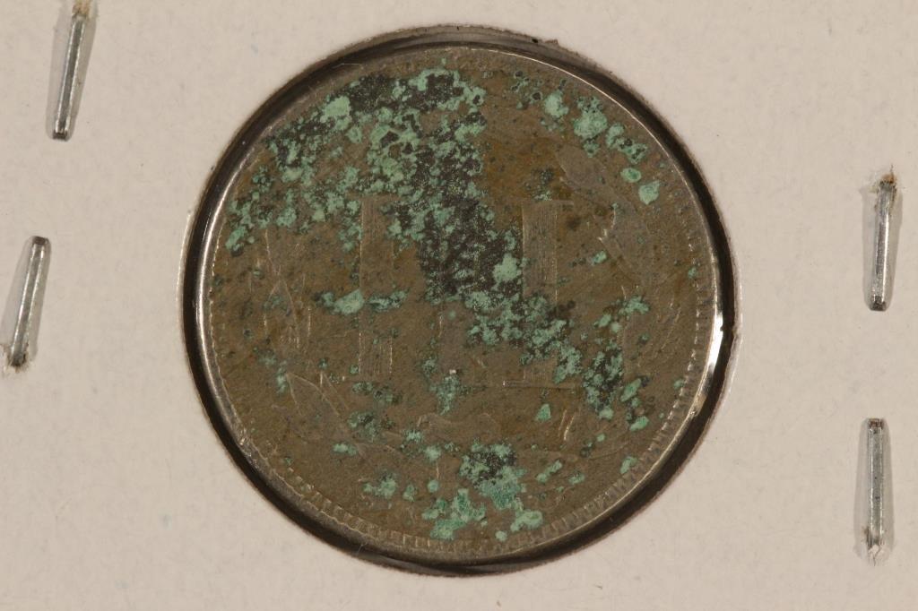 1866 THREE CENT PIECE (NICKEL) WITH VIRDIGRIS - 2